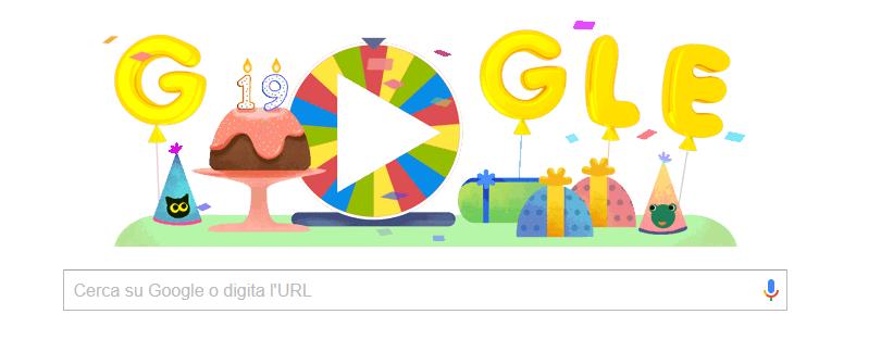 Buon compleanno Google, 19 anni… mi ricordo… e ho toppato…
