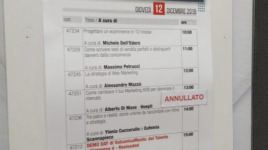 """Una giornata a Smau Napoli per """"Progettare un ecommerce"""""""